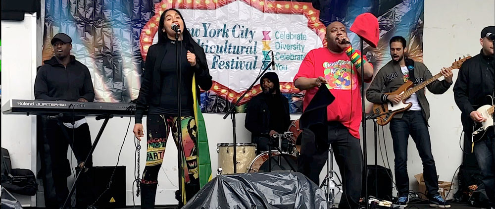 Steve, Danni, Bendji, Father Goose, and Vic @ New York City Multicultural Festival